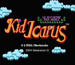 Ecran titre - Kid Icarus