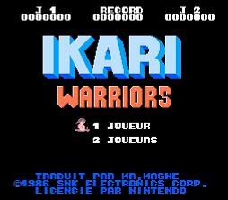Ecran titre - Ikari Warriors