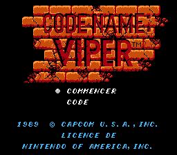 Codename : Viper